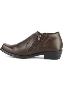Bota Social Cr Shoes Com Ziper 14000 Café Marrom