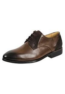 Sapato Masculino Derby Sandro Moscoloni Romeo Marrom