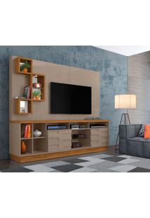 Estante Para Home Theater E Tv Até 65 Polegadas Heitor Fendi E Naturale