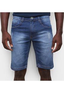 Bermuda Jeans Ecko Estonada Masculina - Masculino