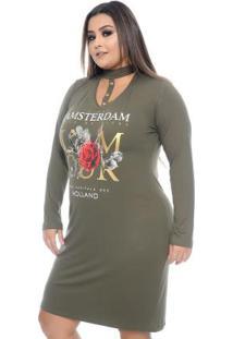 Vestido Amsterdam Verde Plus Size
