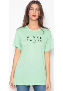Camiseta Escrita- Verde Limão- Colccicolcci