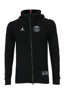 Jaqueta De Moletom Jordan X Psg Wings Nike - Masculina - Preto/Branco