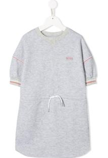 Boss Kids Vestido De Tricô Com Estampa De Logo - Branco