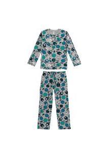 Pijama Malwee 1000077440 Infantil Cinza