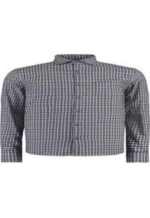 Camisa Vr Flanela Xadrez Masculina - Masculino-Azul