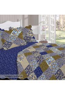 Conjunto De Colcha Renove Arlete King Size- Azul Escuro Buettner