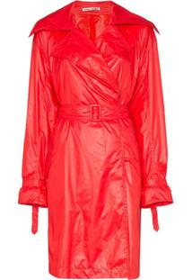 Samuel Guì Yang Trench Coat Brigitte Com Cinto - Vermelho