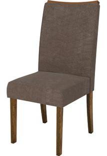 Cadeira Serena 2 Peças - Demolição Com Pena Marrom