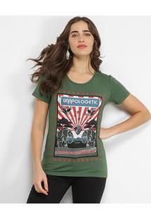 Camiseta Sommer Unapologetic Feminina - Feminino-Verde Escuro