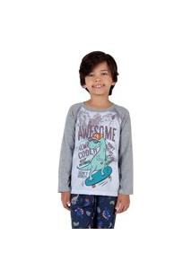 Pijama Estampa Dino Infantil Menino - Toque Kids