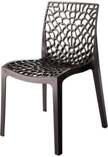 Cadeira Gruver Polipropileno Cor Dourada - 28429 - Sun House