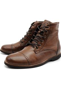 Bota Masculina Trivalle London Fóssil Chocolate