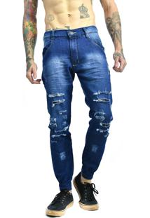 Calça Rich Young Jeans Destroyed Azul