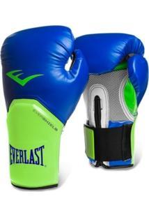 Luva De Boxe Everlast Pro Style 14Oz Azul/Verde
