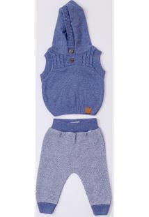 Conjunto Mini Lord - Conrad Menino Bebê - Azul Jeans