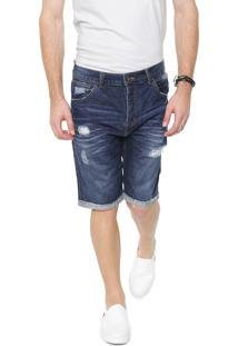 Bermuda Jeans John John Reta Berlim Azul