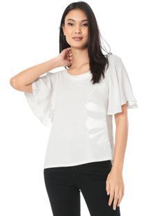 Camiseta Forum Bordada Off-White - Kanui