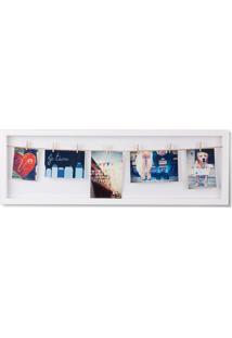 Porta-Retrato Varal Flip Horizontal Branco 72 Cm