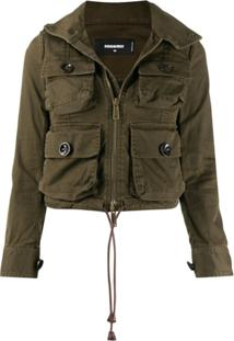 Dsquared2 Cropped Utility Jacket - Verde