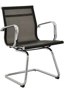 Cadeira Office Sevilha Fixa Tela Preta Rivatti Móveis