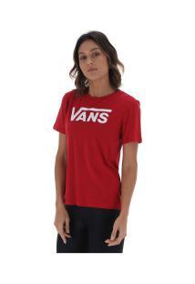 4ba857d1df Camiseta Vans Flying V Crew - Feminina - Vinho