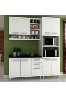 Cozinha Compacta New Vitoria 13 Branco Tx/Bianco - Hecol