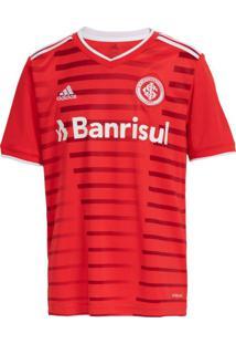 Camisa Infantil Adidas Internacional Oficial 1 2021 Vermelho - 14