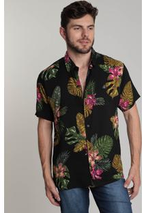 Camisa Masculina Coral Reef Floral