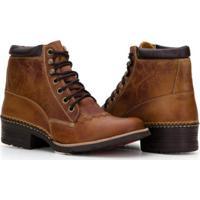 19433f70b Bota Country Capelli Boots Em Couro Com Recortes Masculino - Masculino- Marrom