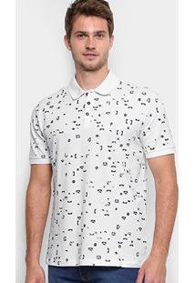 Camisa Polo Reserva Piquet Full Print Pátria Masculina - Masculino-Branco c660f21f1acf5