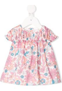 Chloé Kids Vestido Casual Com Estampa Floral - Rosa