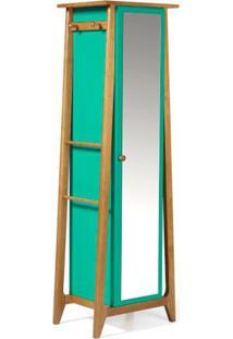Armario Multiuso Stoka Cor Amendoa Com Verde Anis - 31606 - Sun House