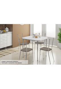 Sala De Jantar Carraro Mesa 1510+4 Cadeiras Cro/Conhaque