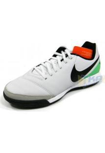93961431390f5 Chuteira Nike Tiempo Genio 2.17 Society Couro Bco/Pto/Vrd - Nike