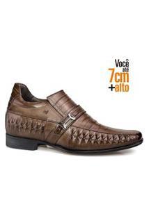 Sapato Social Couro Rafarillo Masculino Tresse Dia A Dia Conhaque