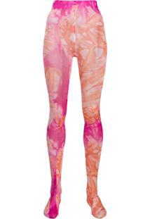 Versace Meia-Calça Com Efeito Tie-Dye - Rosa