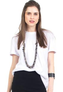 Camiseta Manga Dobrada 41Onze Branca