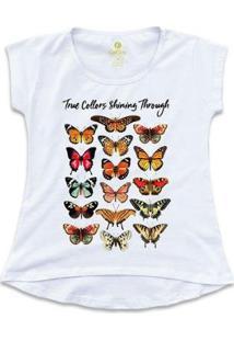 Camiseta Cool Tees Borboletas True Collors Feminina - Feminino