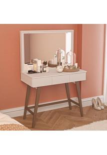 Penteadeira Carly 3 Gavetas Com Espelho Branco - Pnr Móveis