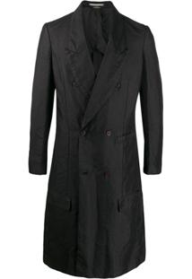 Comme Des Garçons Homme Plus Double-Breasted Long Coat - Preto