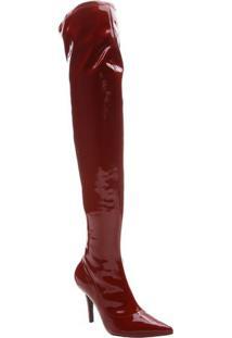 Bota Over The Knee Envernizada- Bordã´Arezzo & Co.