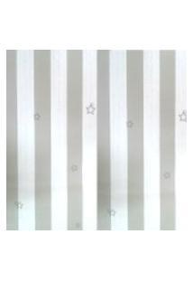 Kit 2 Rolos De Papel De Parede Fwb Lavável Listrado Cinza E Branco