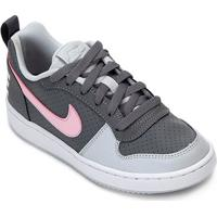 a5a97904452 Tênis Infantil Nike Court Borough Low Feminino - Feminino-Cinza+Rosa