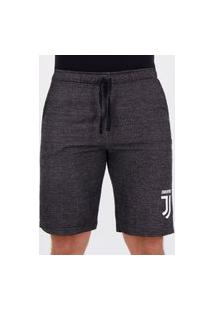 Bermuda Moletom Juventus Basic Chumbo