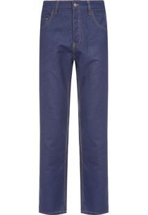 Calça Jeans Masculina Leblon Rustic E-Basics - Azul