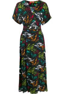 Missoni Vestido Com Decote Em V E Estampa Abstrata - Preto