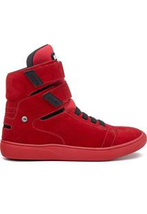 Tênis All Red Rock Fit Kiss Em Couro