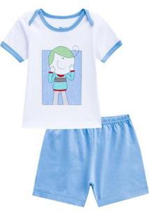 Pijama Curto Eddie Masculino Bebê - Masculino