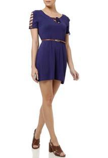 Vestido Curto Feminino La Gata Azul Marinho